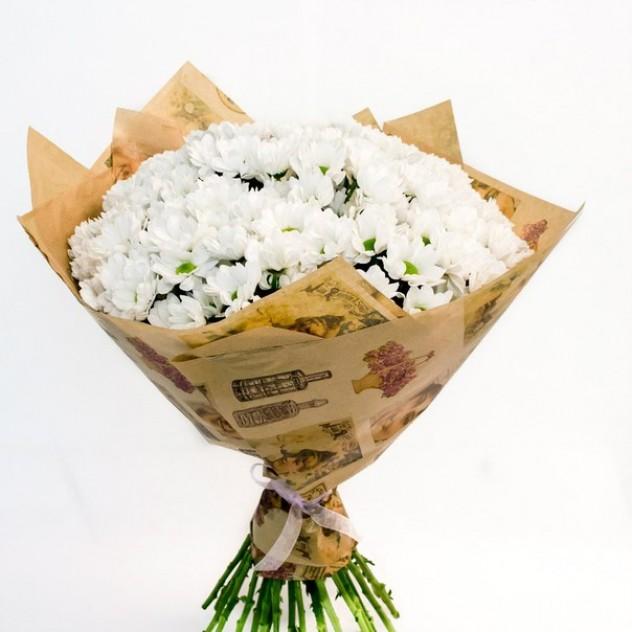 Стильные букеты из хризантем