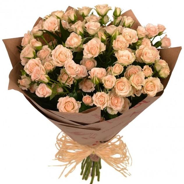 """Букет цветов """"Крем-брюле"""""""